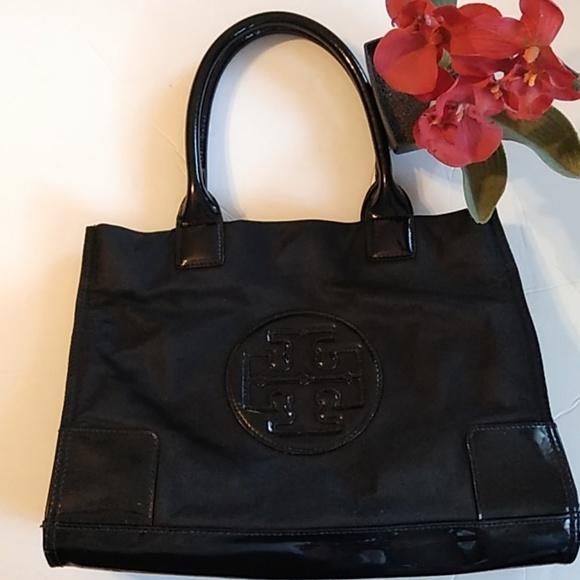 915052efad8 Tory Burch Tote Black on Black Patent. M 5c1a91bad6dc524476749cf4